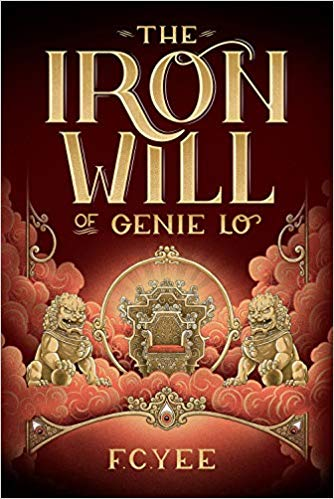"""The cover for """"The Iron Will of Genie Lo"""" features the throne of Heaven."""