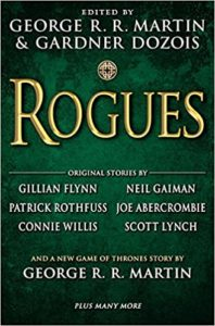 """This is the book cover for """"Rogues""""."""