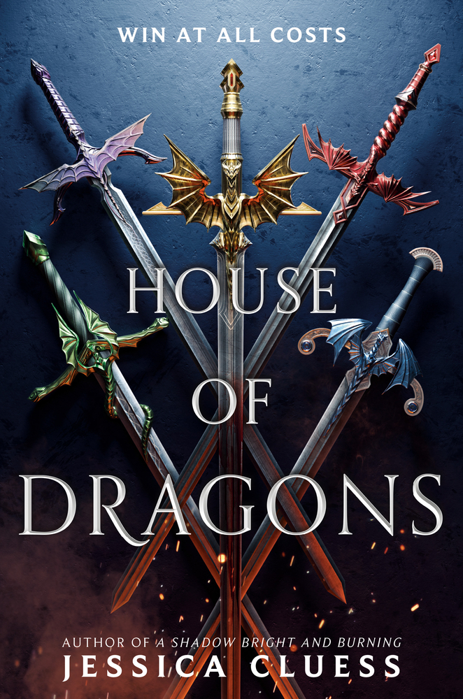 "The ""House of Dragons"" cover features five swords, each with a different colored dragon on the handle."