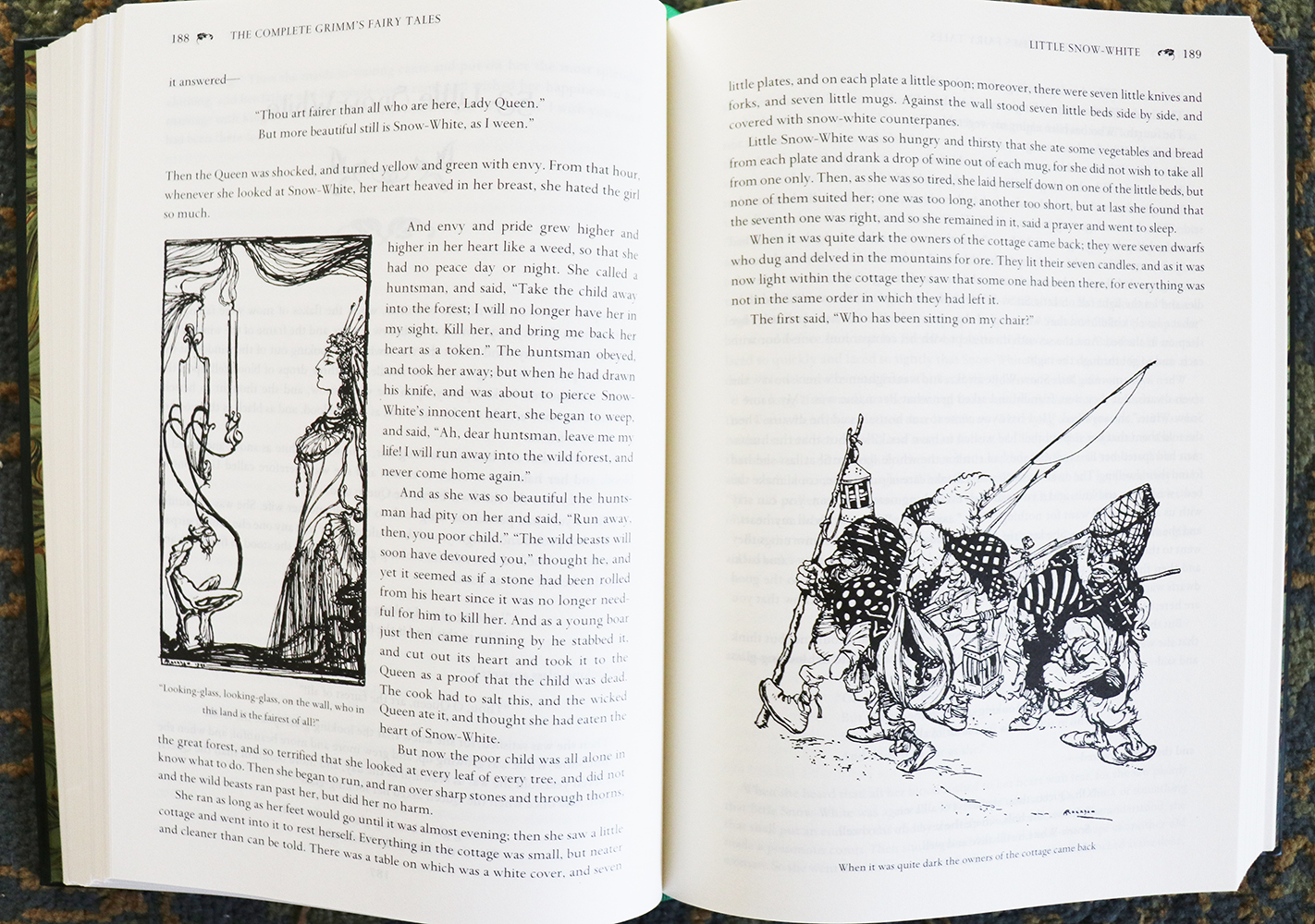 """The Complete Grimm's Fairytales"" – black-and-white illustrations for ""Snow White"""